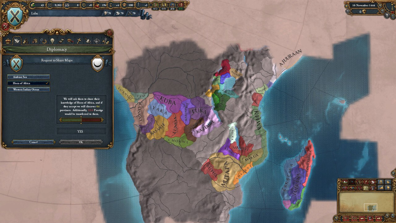 Africa Map Horn Of Africa%0A Europa Universalis   Africa Map Europa Universalis IV Mare Nostrum DLC  Linux Mac Windows Steam Fanatical
