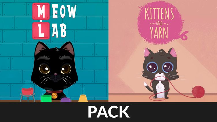 Meow Lab & Kittens and Yarn Pack