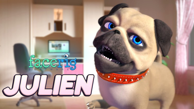 FaceRig Julien the Pug Avatar